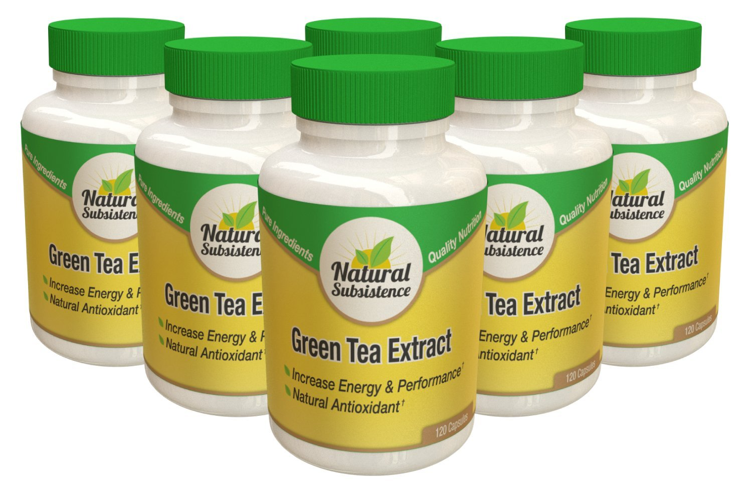 Extra Strength Green Tea Extract! Supports Healthy Metabolism, Weight Management and Energy Levels! 6 Bottles for The Price of 3! by Natural Subsistence