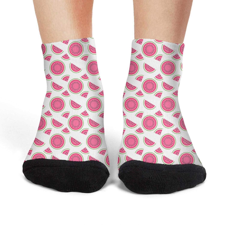 Mens athletic low cut Ankle sock Strawberry plants fruit Colorful Pattern Comfort Short Socks