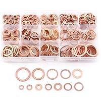 Paquete de 280 piezas Arandela plana de cobre