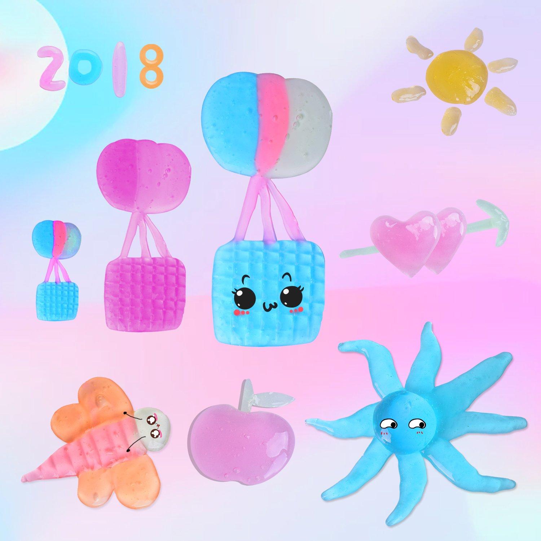 Heegay DIY Macarons Slime Schleim, 12PCS Crystal Schlamm Kit Lehm Gummi Schlamm Plasticine Release Druck Stress Relief Kinder Spielzeug