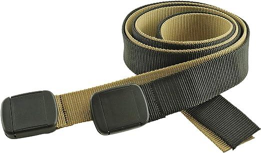"Men/'s Black Nylon Fabric Web Belt,1.25/"" X 60/"" New Made in the USA"
