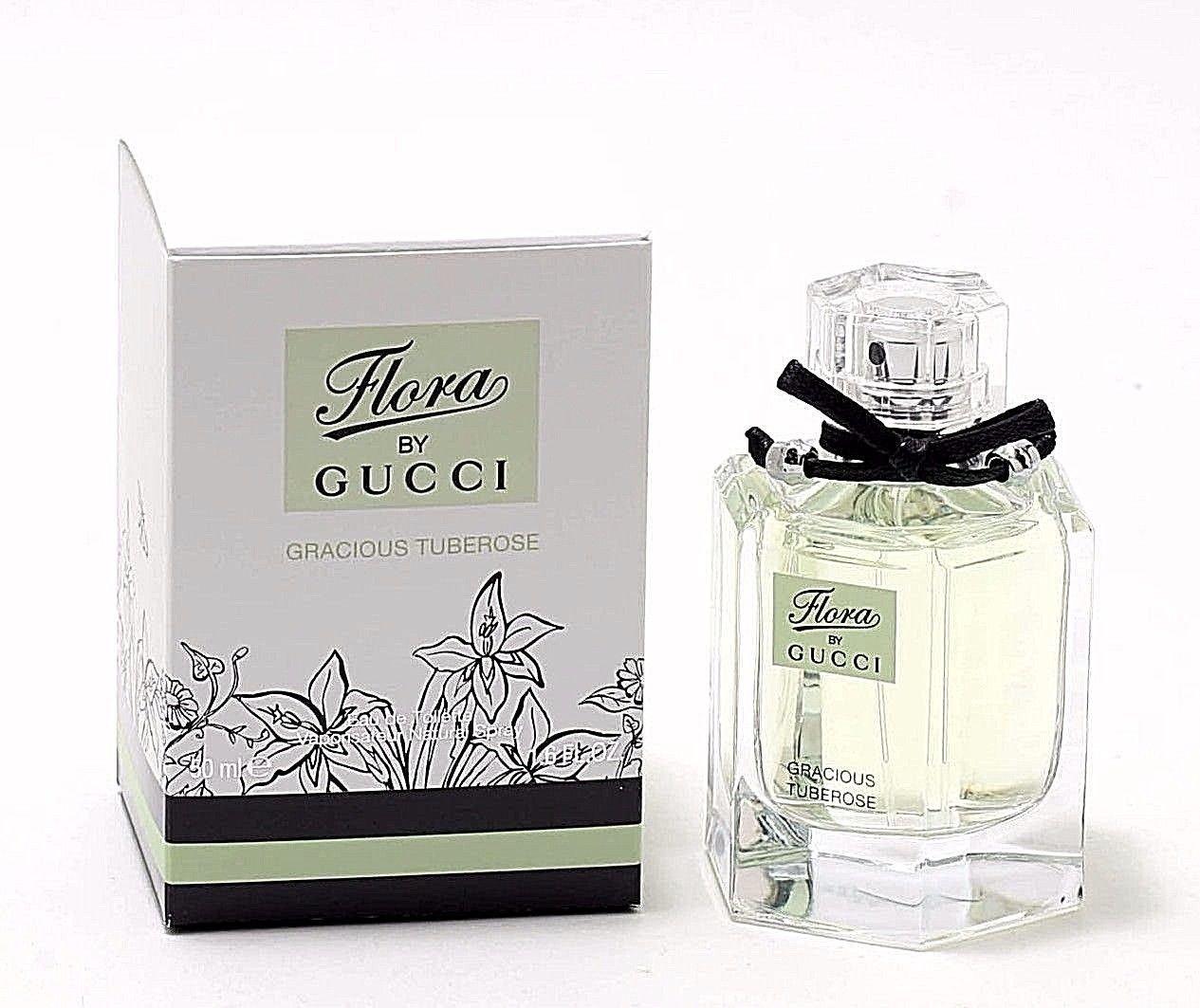 bc31f3eac51 Amazon.com   New FLORA Gracious Tuberose by Gucci 1.6 Oz Eau De Toilette  Spray for Women   Beauty