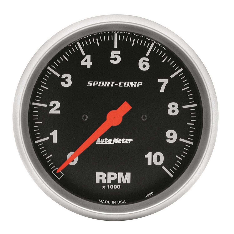 Auto Meter 3990 Sport-Comp In-Dash Electric Tachometer