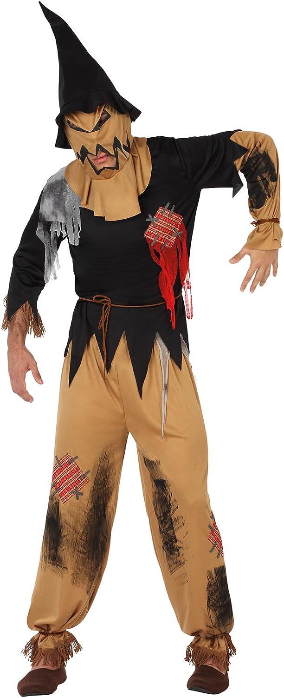 Atosa-26149 Disfraz Espantapájaros Zombie, color marrón, M-L ...