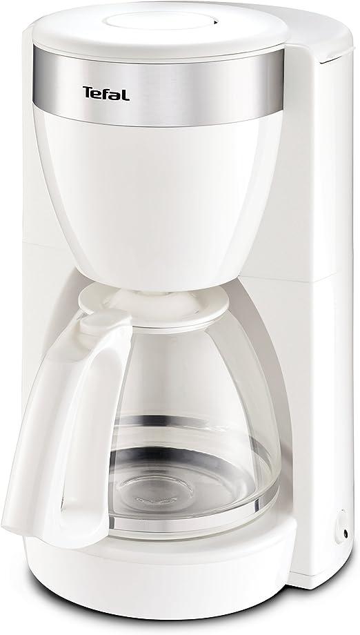 Tefal CM 1801 Independiente - Cafetera (Independiente, Cafetera de filtro, 1,25 L, 1000 W, Acero inoxidable, Blanco): Amazon.es: Hogar