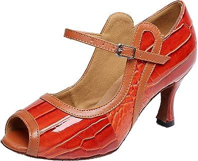 add50227701 Amazon.com | Abby Womens Sexy Latin Salsa Ballroom Dance-Shoes ...