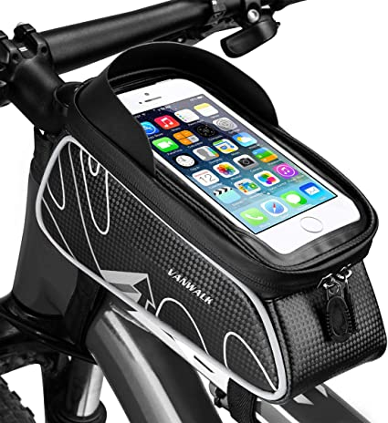 "Bike Bicycle Handlebar Front Bag Case Pouch for 6.0/"" Touch Screen Mobile Phone"