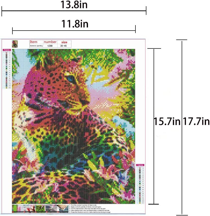5D DIY Diamond Painting Kits for Adults/and Beginner Round /Full Drill Embroidery Paintings Rhinestone Pasted Diamond Art for Home Wall Decor Gift 13.8/×17.7Inches Eagle USA Flag
