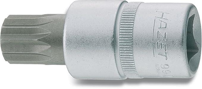 Innenvierkant 12,5 mm Hazet 990LG-12 Schraubendreher-Einsatz 1//2 Zoll Innen Vielzahn XZN s: 12