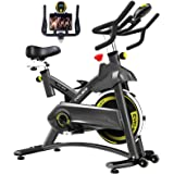 Cyclace Exercise Bike Stationary 330 Lbs Weight Capacity- Indoor Cycling Bike with Comfortable Seat Cushion, Tablet…