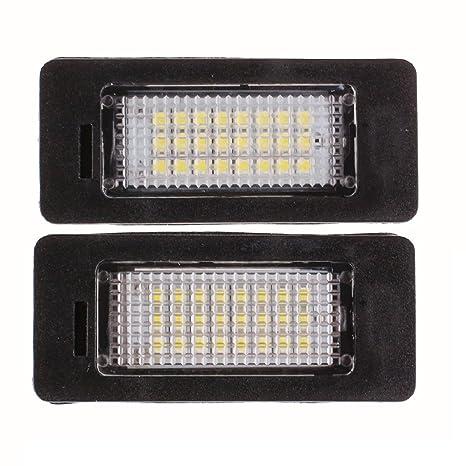 2 x LED Coche Luz Licencia Número Placa Etiqueta lámpara blanca brillante bombillas 12 V para