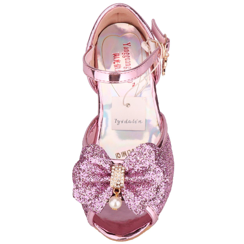 6bf21a7c86 Tyidalin Niña Bailarina Zapatos de Tacón Disfraz de Princesa Zapatilla de Ballet  para 3 a 12 Años ...