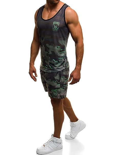 OZONEE Chándal de Hombre Chándal Camiseta Pantalón Corto Fitness ...