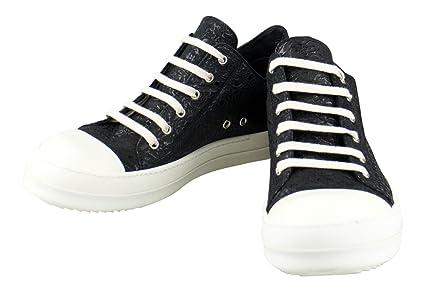 729e4e3c4145 Amazon.com   RICK OWENS  Ramones  Black Leather Nubuck Low Sneaker ...