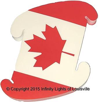 Amazon Canada Flag Print Pattern Medium Infinity Lights Puzzle