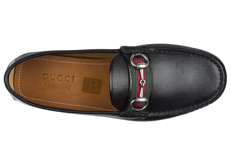 Gucci mocasines en piel hombres nuevo mir soft negro EU 42 450892 A9L60 1098: Amazon.es: Zapatos y complementos
