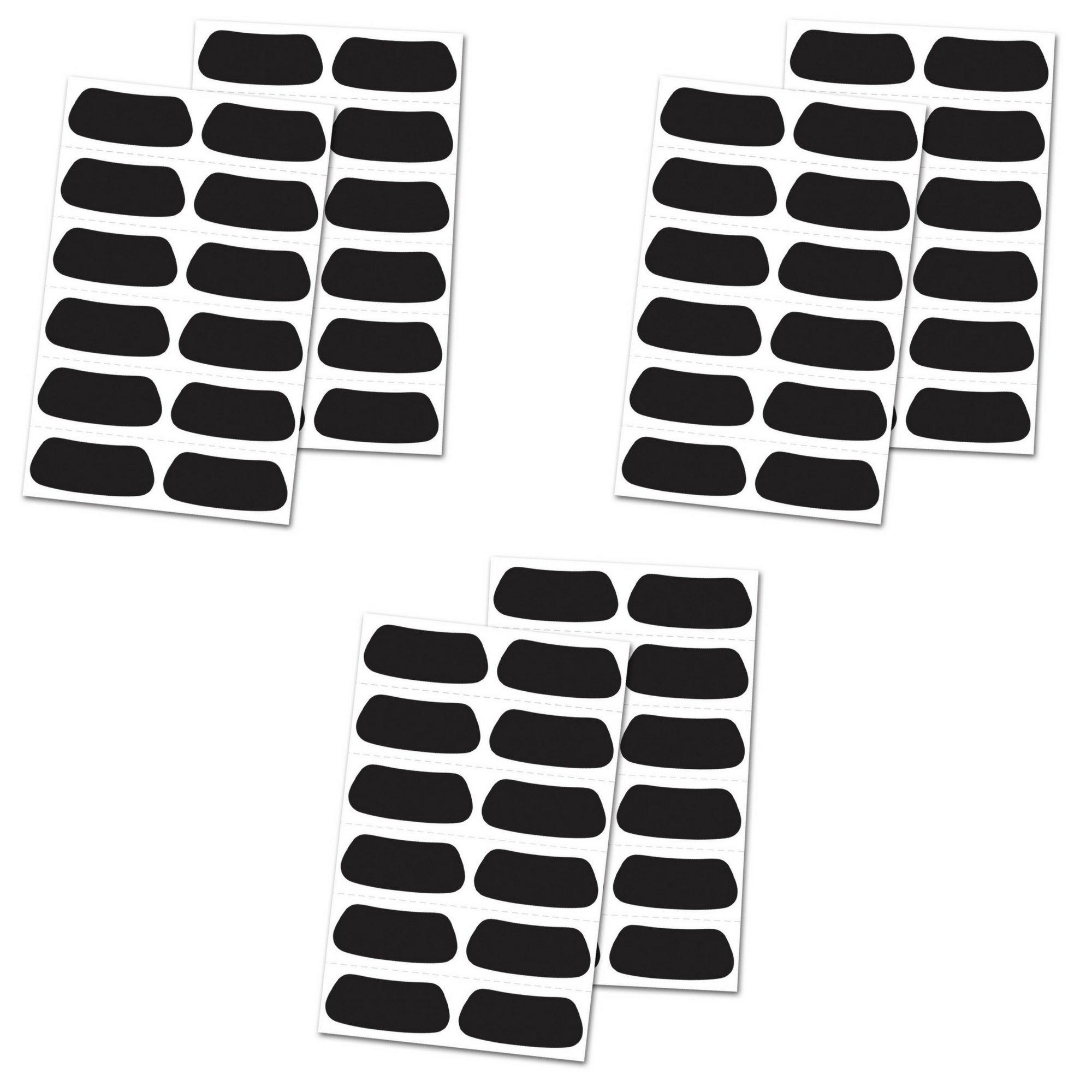 Rawlings Eye Black Stickers 3-Pack (36 Pairs Total) Baseball/Softball/Football/Lacrosse/Sports