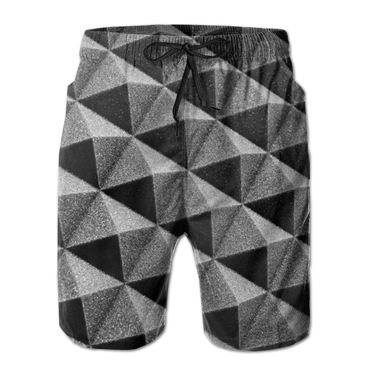EYFlife Gray Geometry Foam Men/â/€s Beach Board Shorts Quick Dry Swim Truck Shorts