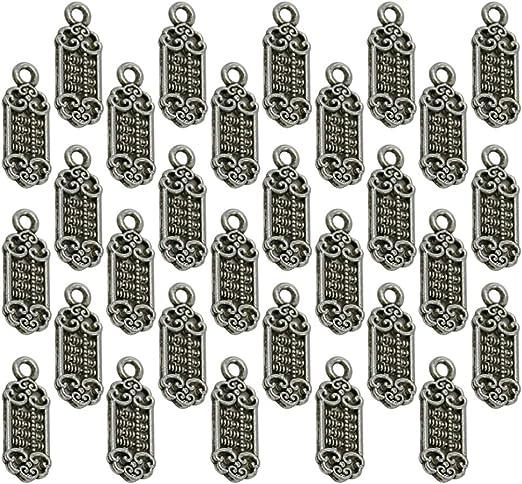 TENDYCOCO 100 Pz Alloy 2021 forma ciondoli pendenti numero di risultati di diy per il braccialetto della collana dei monili argento antico