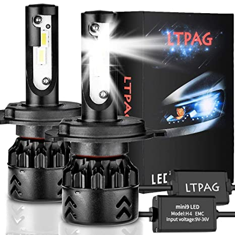 LTPAG Bombilla H4 LED Coche, 2pcs 72W 12000LM Lampara H4 LED 12V/24V Luces