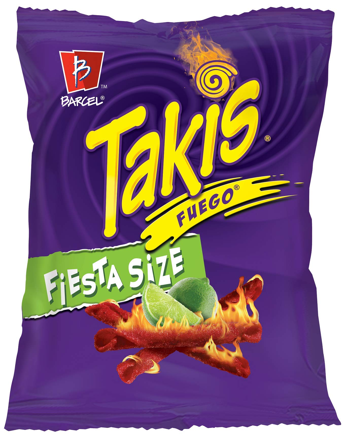 Barcel Takis - Crunchy Rolled Tortilla Chips – Fuego Flavor (Hot Chili Pepper & Lime), 20 Ounce