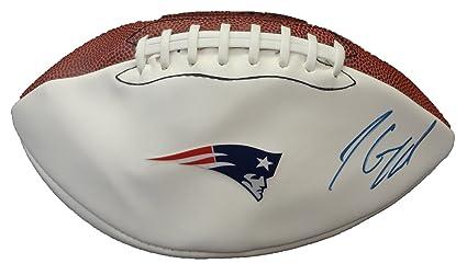 ae5b67832 Jimmy Garoppolo Autographed New England Patriots Logo Football W PROOF