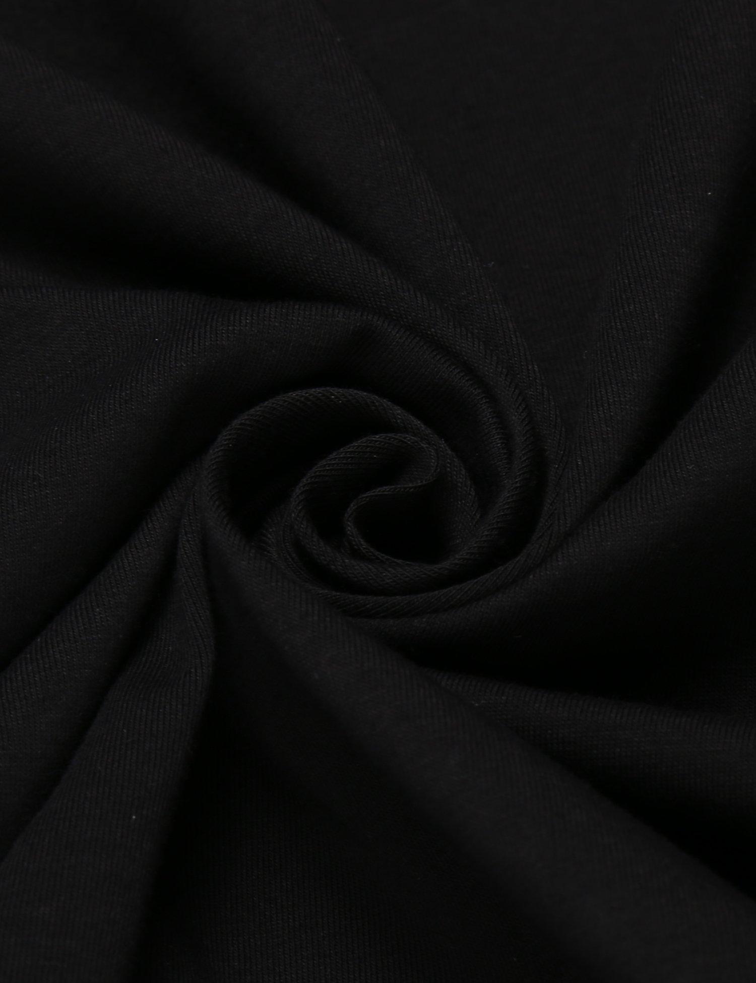 COOFANDY Men's Ruffle Shawl Collar Long Sleeves Cardigan (Medium, Black) by COOFANDY (Image #7)