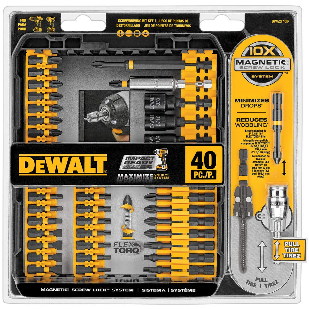 Dewalt 40-Pc. IMPACT READY Screwdriving Set - Driver Bit: - 1