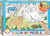 EuroGraphics Jungle Color Me Puzzle (100 Piece)