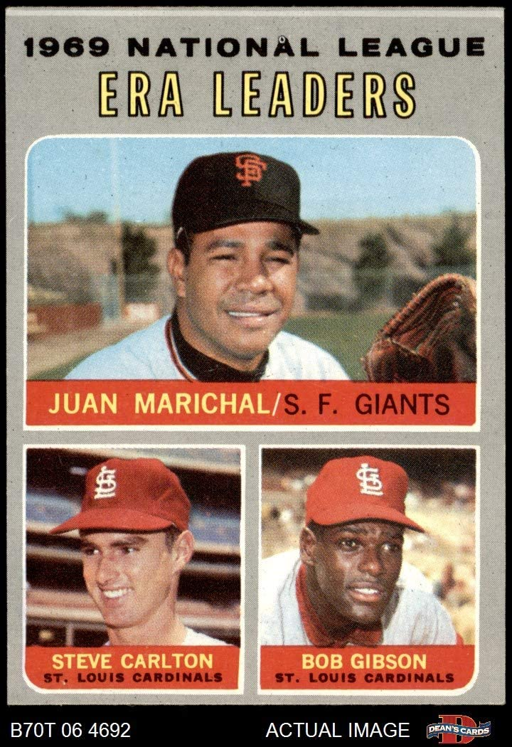 1970 Topps # 67 NL ERA Leaders Steve Carlton/Bob Gibson/Juan Marichal Cardinals/Giants (Baseball Card) Dean's Cards 5 - EX Cardinals/Giants 71WoKk8pNDL