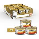 Gourmet Purina Gold Umido Gatto Mousse con Manzo - 24 Lattine da 85 g Ciascuna (Confezione da 24 x 85 g)