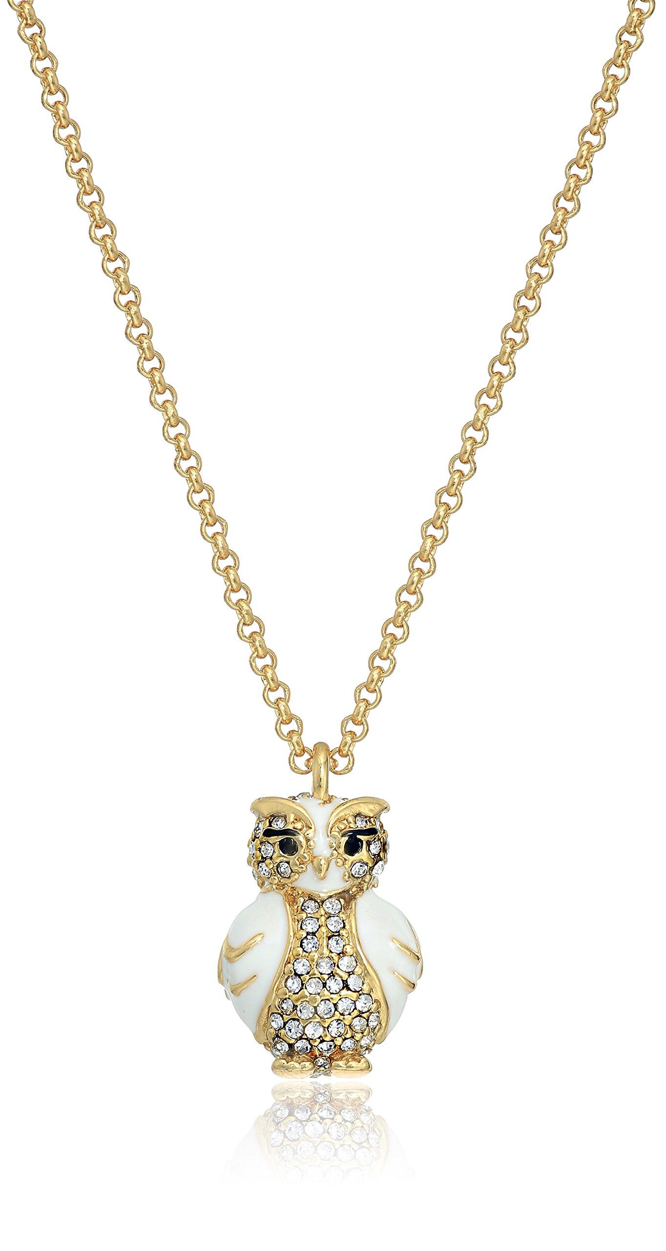 Kate Spade New York Star Bright Owl Mini Pendant Necklace