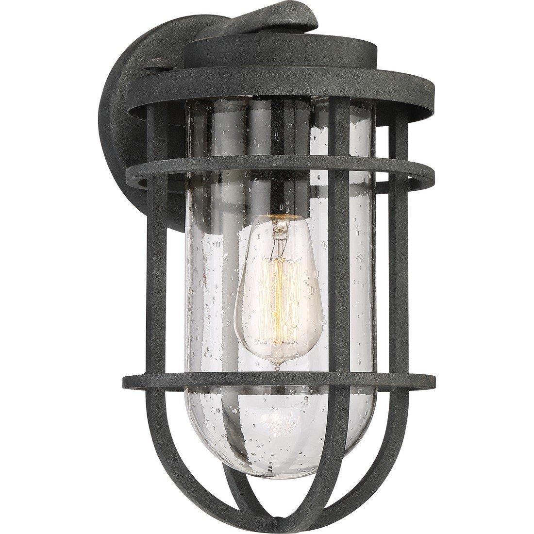 Quoizel One Light Outdoor Wall Lantern BRD8408MB, Medium, Mottled Black