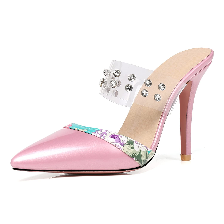 Unbekannt Damen Sandalen Wies Fein mit High Heel Größe Flip Flop Fashion Strass Rosa 31.