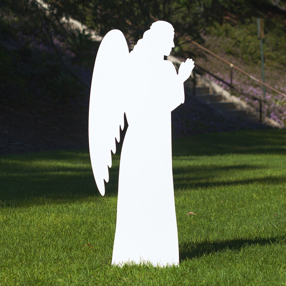 Outdoor Nativity Store Outdoor Nativity Set Add-on - Angel (Life-size, White)