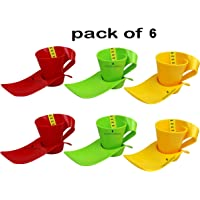 Laxmi Collection Perpetual Bliss Kids Plastic Fancy Milk Mugs with Snacks Tray Set (Multicolour, 20x10x12 Cm)