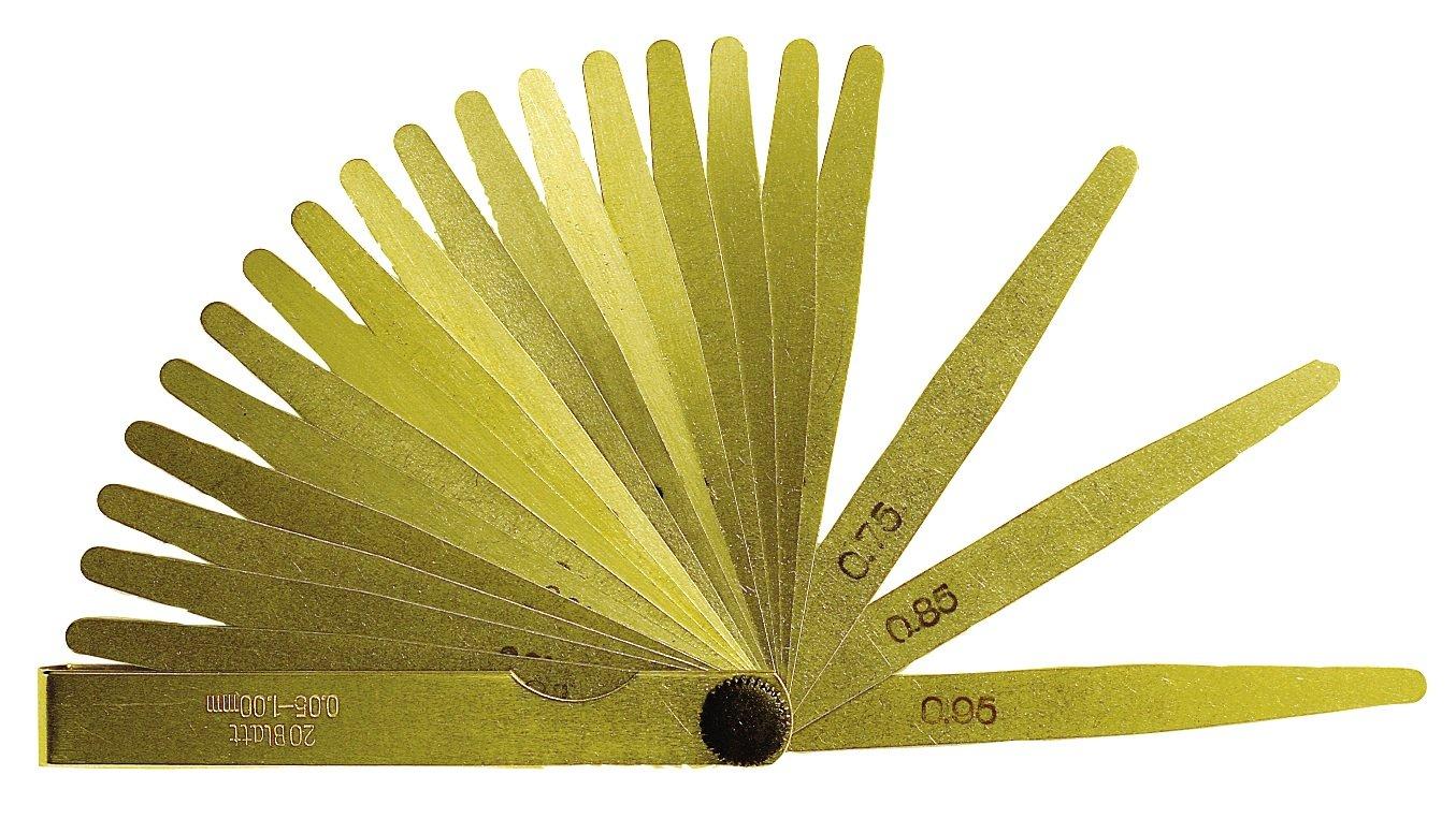 8 Piece Precision Feeler Gauge Measuring range 0.05 –  0.5 mm –  100 mm Long –  Made from Brass CNC QUALITÄT