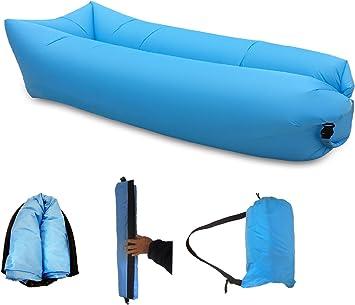 Amazon.com: Inflable sofá tumbona cómodo y resistente Lazy ...