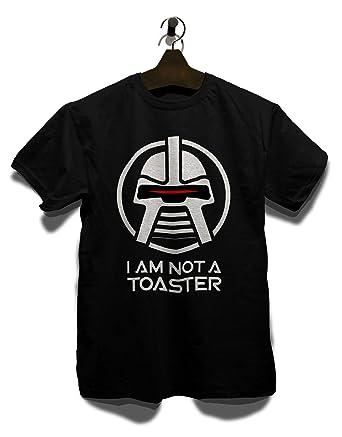 shirtminister Cylon I Am Not A Toaster T-Shirt schwarz-black S