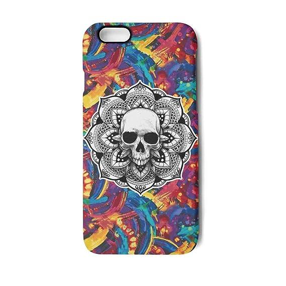 Amazoncom Vekq Iphone7 Plus8 Plus Case Skull In Lotus Flower