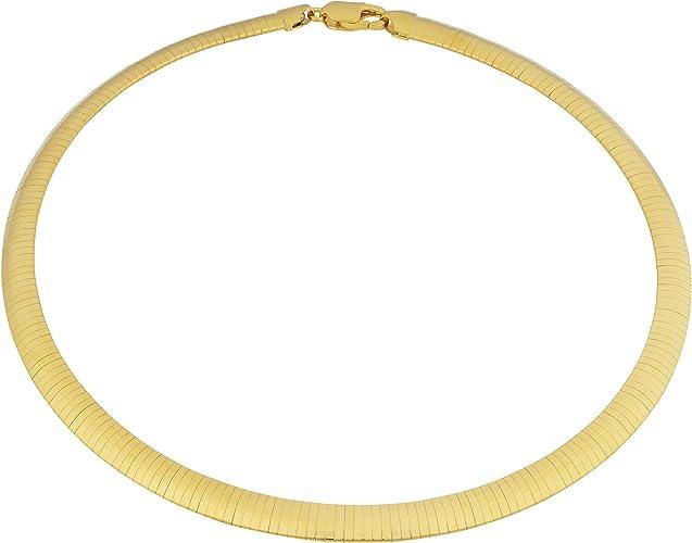 "5.5mm Flexible Herringbone Bracelet 14K Yellow Gold Clad Silver 925 ITALY 7.5/"""