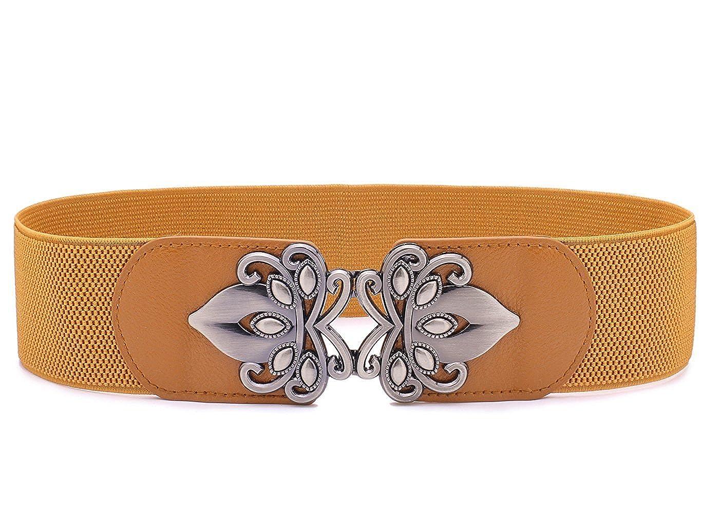 LONFENNE Mode rétro Vintage élastique Stretch ceinture nouvelle arrivée  féminine, ceintures 2.3