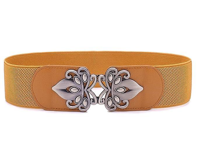 c765867e7ea6 LONFENNE Mode rétro Vintage élastique Stretch ceinture nouvelle arrivée  féminine, ceintures 2.3