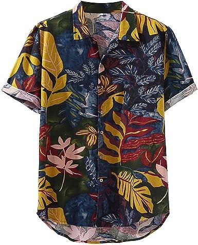 Camisas Hombre Manga Corta Camisas Casual para Hombre Camisa Hawaiana Hombre Casual Impresión Verano Playa Funny Hawaii Shirt Camisa Hombre Slim fit Blusas para Hombre Camisa Hawaiana para Hombre: Amazon.es: Ropa y
