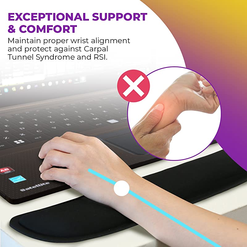 2pc Keyboard Wrist Rest Pad and Full Ergonomic Mouse Pad