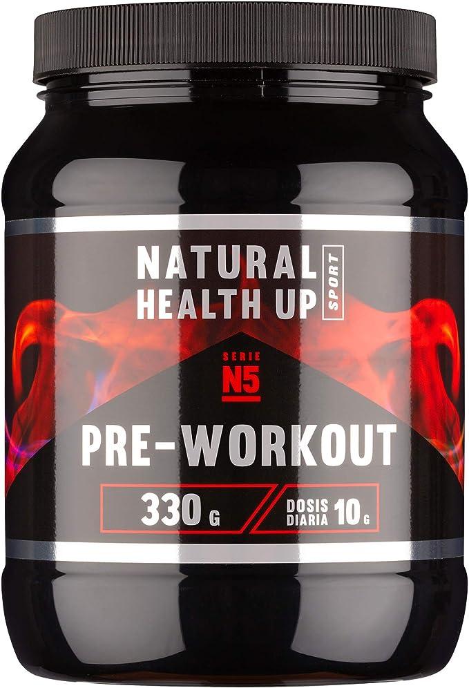 Pre entreno con arginina y creatina para un mejor rendimiento deportivo – Pre-entreno con vitaminas B3 y B6 para el crecimiento muscular – Sabor ...