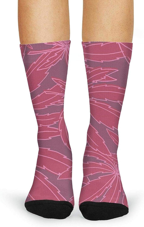 XIdan-die Womens Over-the-Calf Tube Socks paint marijuana cannabis leaf Moisture Wicking Casual Socks