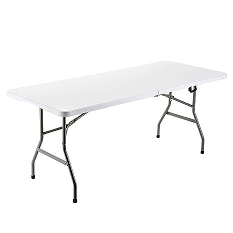 Amazon.com: FORUP mesa plegable de 6 pies, mesa de utilidad ...