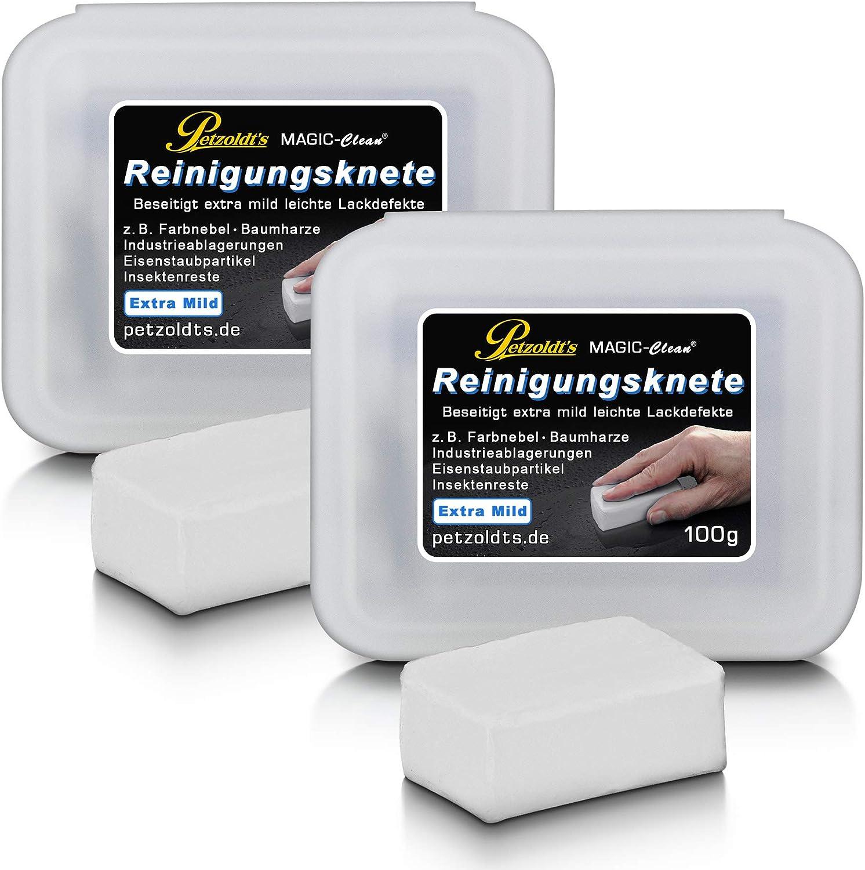 2 Petzoldts Weiße Profi Reinigungsknete Magic Clean Extra Mild Bei Der Lackreinigung Auto