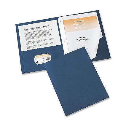 amazon com avery two pocket folders dark blue pack of 25 47975